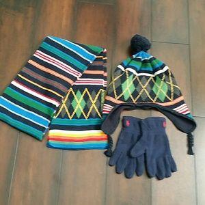 GAP Kid's winter hat+scarf+ gloves